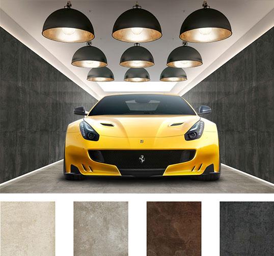 Популярный керамогранит полного прокраса для гаража