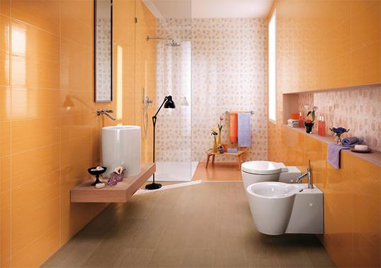 Оранжевая плитка для ванной комнаты, распродажа остатков