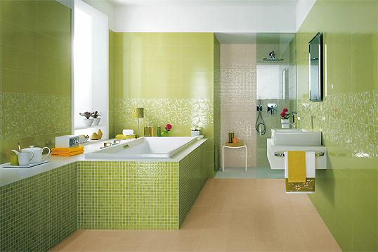 Зеленая плитка для ванной комнаты, распродажа!
