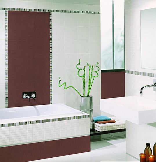 Коричневая плитка под мозаику 20х20 см для ванной