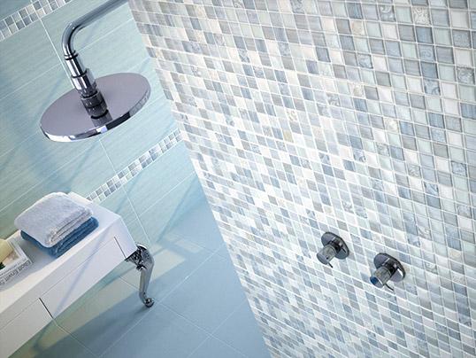 Голубая плитка для ванной комнаты, хит продаж