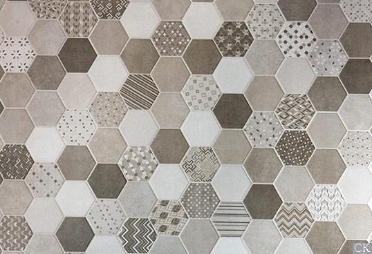 Серая шестиугольная плитка