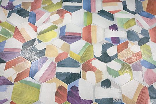 Артистическая коллекция плитки в форме шестиугольника
