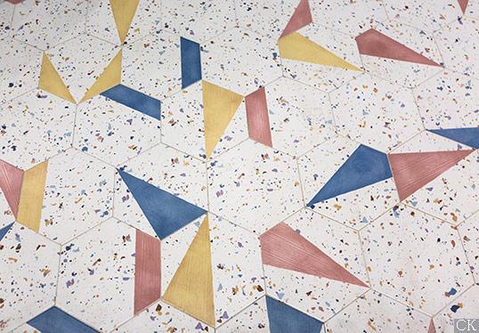 Шестиугольная плитка в стиле тераццо