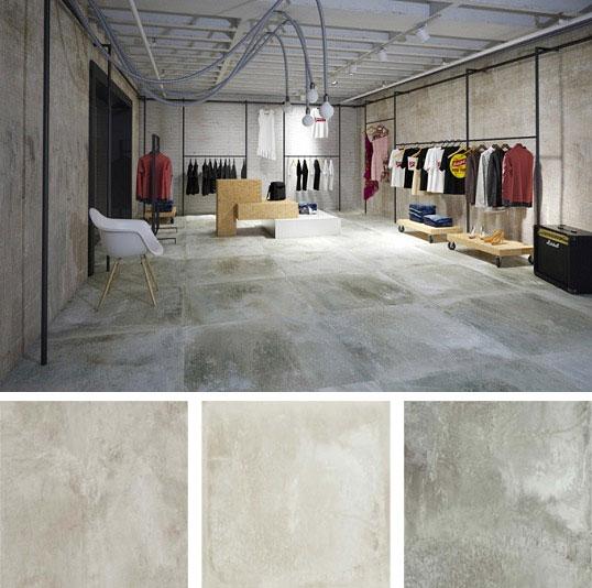 Керамогранит большого размера под бетон