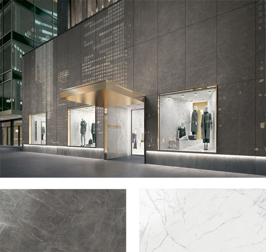 Керамогранит под мрамор большого размера, для фасадов и внутренней укладки