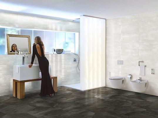 Модная металлизированная плитка для ванной