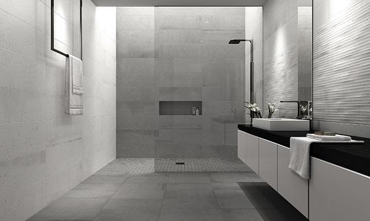 Керамогранит под поверхность бетона для ванной в современном стиле лофт