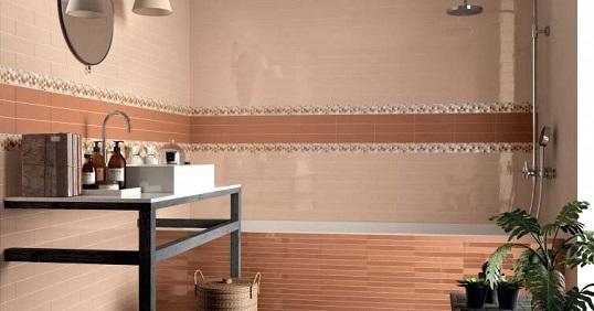 Керамогранит в форме кирпичика для ванной