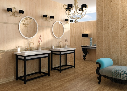 Спокойная классическая плитка для ванной комнаты