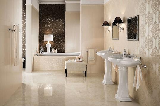 Плитка для классической ванной с имитацией шелковой ткани