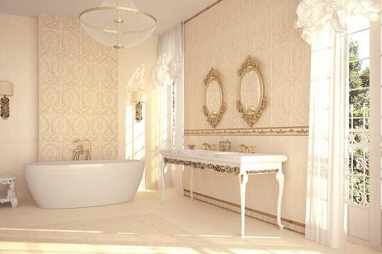 Плитка в стиле классика для ванной комнаты