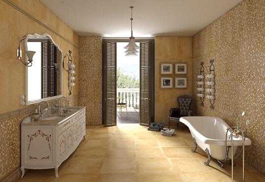 Испанская плитка для ванной в классическом стиле