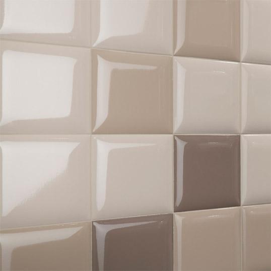 Выпуклая плитка 15х15 см для ванной комнаты