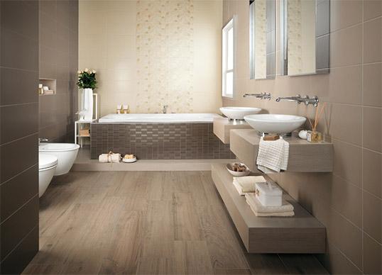 Керамическая плитка для ванной в скандинавском стиле