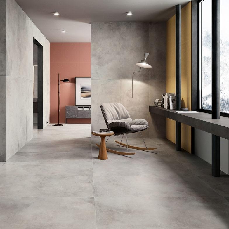 Italon Millenium - необычный керамогранит под цемент