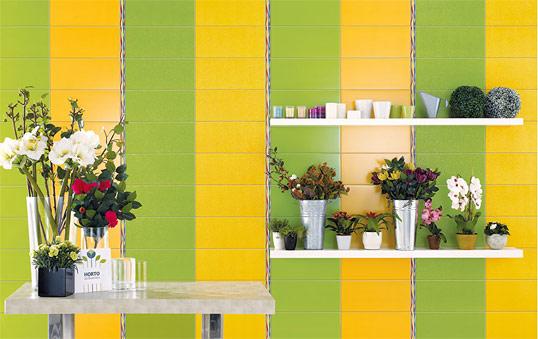 Ярко зеленая плитка для ванной комнаты