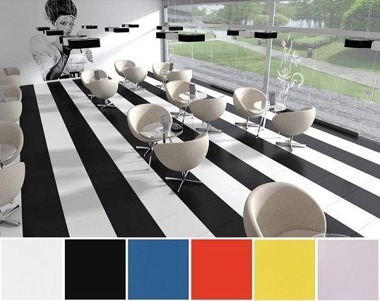 Модный керамогранит в стильном черно-белом дизайне