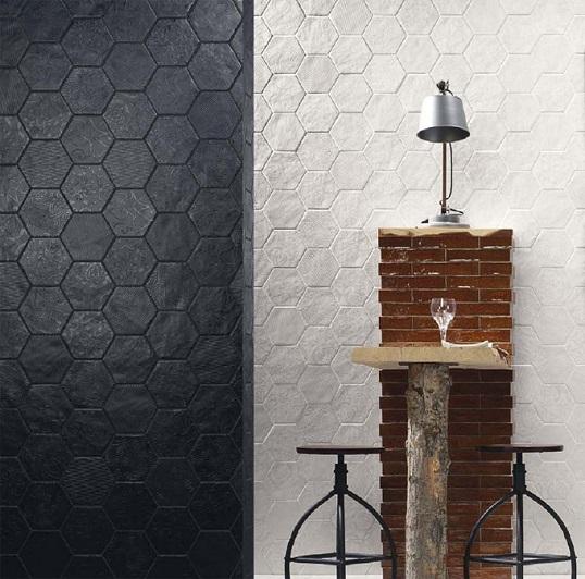 Модная шестиугольная плитка с текстурированными рисунками