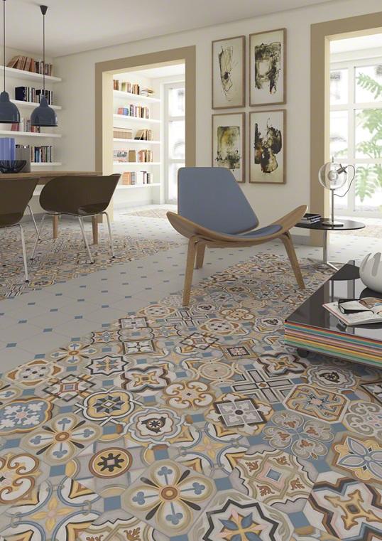 Модная ковровая плитка в стиле пэчворк