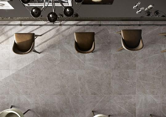 Напольная плитка под серый мрамор, новинка 2016
