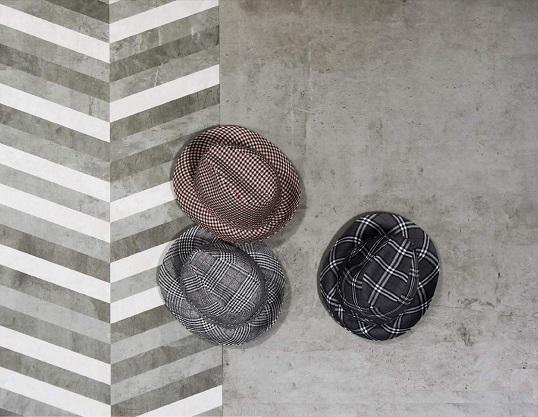 Коллекция под бетон с декорами шеврон, новинка 2016