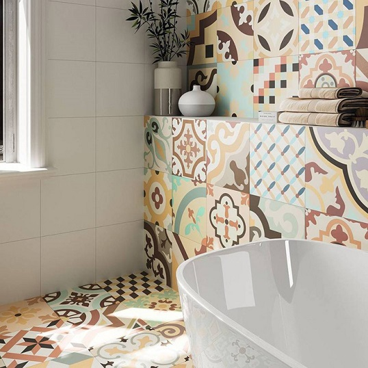 Модная плитка с позитивным дизайном для ванной, новинка 2017