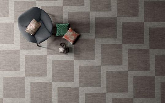 Плитка под ткань с крупным геометричным орнаментом