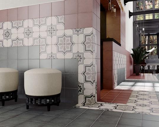 Напольная плитка с орнаментом - октограмма