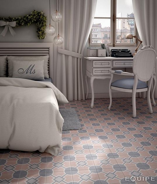 Романтичная плитка с орнаментом в стиле шебби-шик