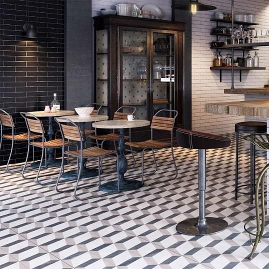 Напольная плитка с геометричным орнаментом, новинка 2016