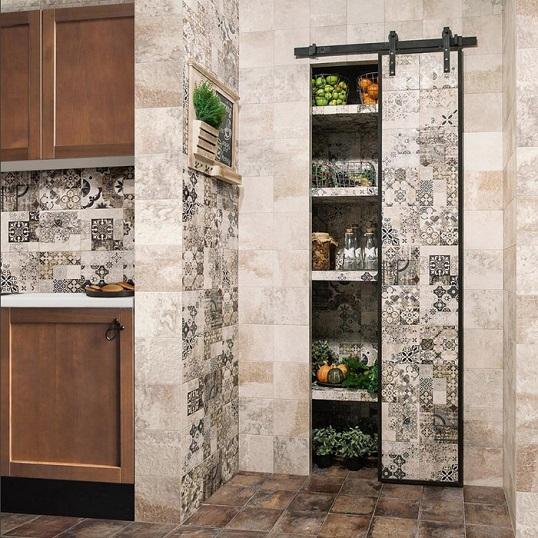 Декоративная плитка в стиле пэчворк для стен