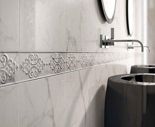 Керамическая плитка по белый мрамор стратуарио
