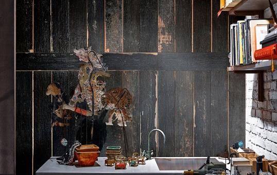 Акцентная плитка под черную деревянную доску, новинка 2017