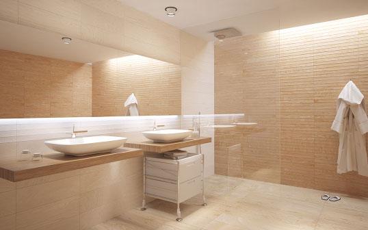 Плитка под дерево для ванной комнаты в скандинавском стиле