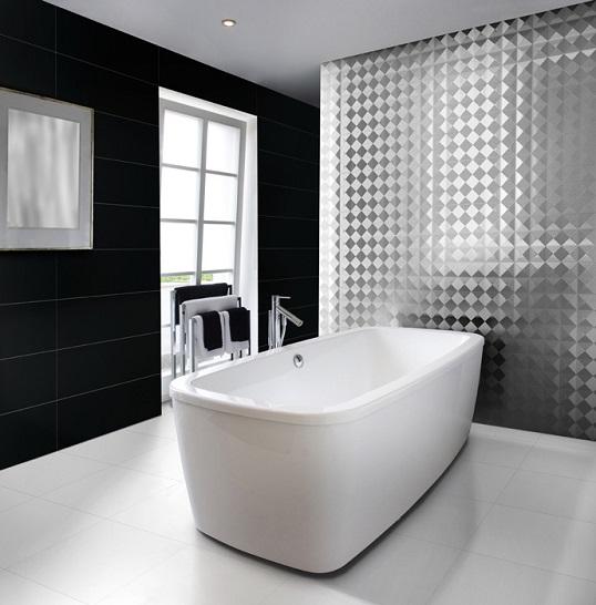 Плитка с металлическим блеском для ванной и кухни
