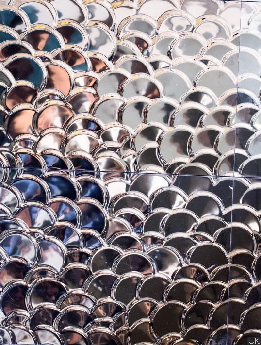 Металлизированная плитка 3D для стен