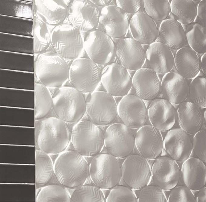 Natucer Viva – эксклюзивная дизайнерская плитка с необычным изогнутым  рельефом поверхности и рисунком с тиснением