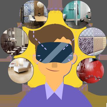 Виртуальная реальность. 3D интерьеры в магазине Санта-Керамика!
