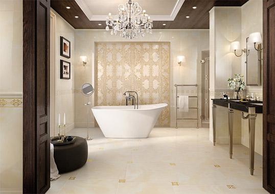 Настенная плитка для ванной в классическом стиле