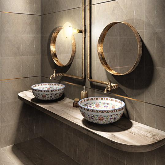 Новая коллекция плитки для ванной 2016 под кожу