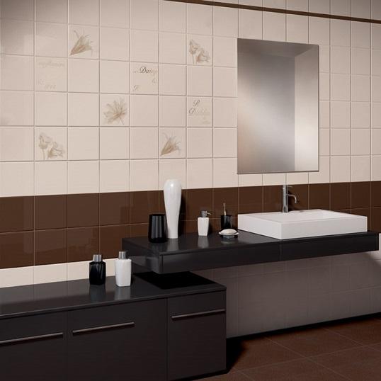 Глянцевая плитка с фаской для ванной, со скидкой