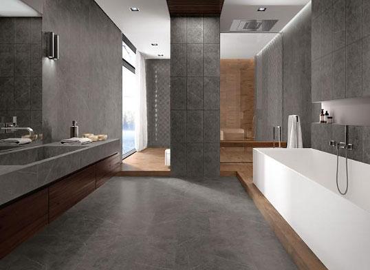 Серый керамогранит для ванной комнаты, новинка 2016
