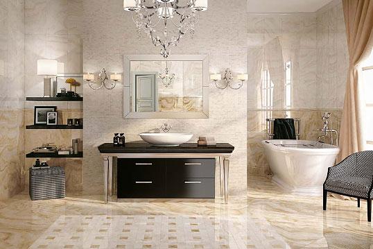 Новая коллекция плитки для ванной, под камень оникс