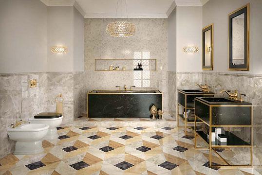 Новая коллекция плитки для ванной, под оникс