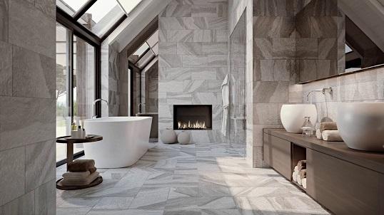 Новая коллекция плити для ванной под итальянский камень, Россия