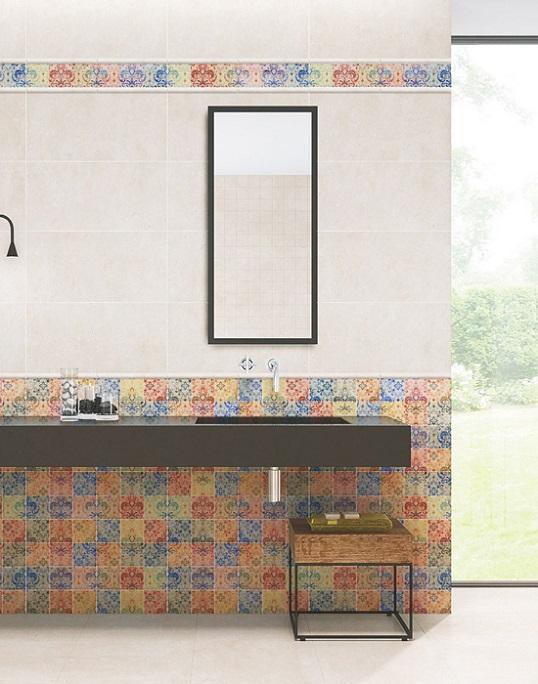 Яркая коллекция с рисунком-радугой для ванной, новинка 2017