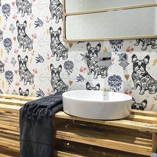 Забавная плитка с художественным гротеском для ванной, новинка 2018