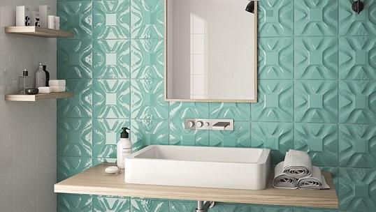 Плитка для ванной с имитацией неопрена
