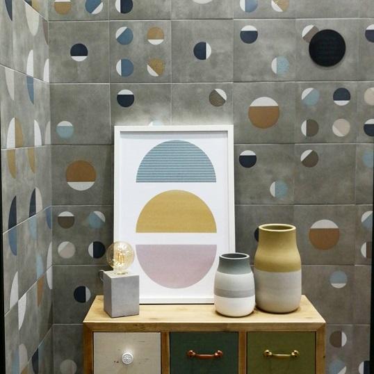 Серая плитка для ванной небольшого размера, новинка 2018